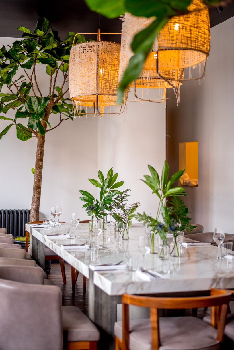 Photo of Angelina Restaurant interior design and architecture by Bruna Balodis photography in Hackney/London