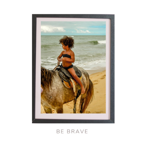 Wall Art print - Brave girl on the horse - Bahia Brasil - By Bruna Balodis Photography
