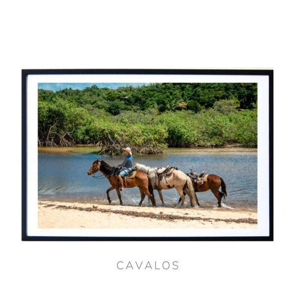 Wall Art print - Horse Riding in in Bahia Brasil - Bahia Brasil - By Bruna Balodis Photography