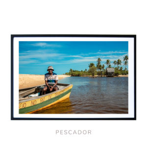 Wall Art print - Local Fisherman in Bahia Brasil - Bahia Brasil - By Bruna Balodis Photography