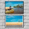 Wall Art print - Local Fisherman in Bahia Brasil - Bahia Brasil - By Bruna Balodis Photography